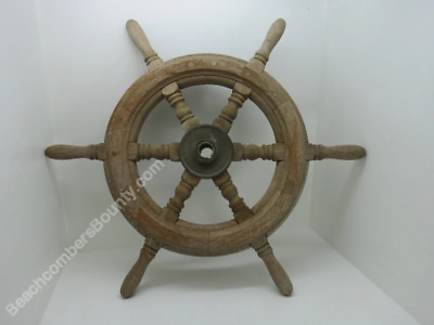 24 inch Bronze And Wood Ship Wheel (XL5-252)