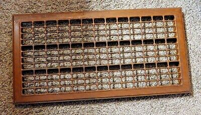 "Vintage Floor Heat Grate Brown 29"" X 15""   Furnace Register"