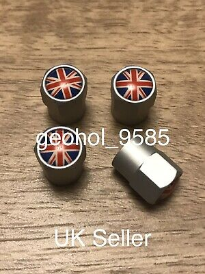 Silver High Quality Tyre Valve Dust Caps Alloy Metal Chrome For Mini Cooper