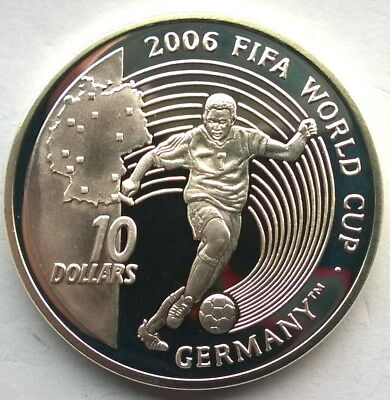 Sierra Leone 2004 World Cup 10 Dollars Silver Coin,Proof
