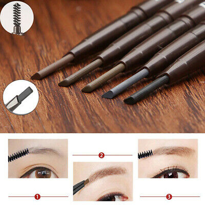Double head Waterproof  Automatic rotation eyebrow pencil  Eyeliner  Makeup Tool