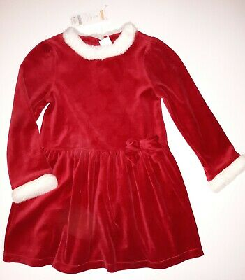 New Gymboree Girls Red Holiday Dress Faux Fur Mrs Santa Claus Christmas 5T NWT