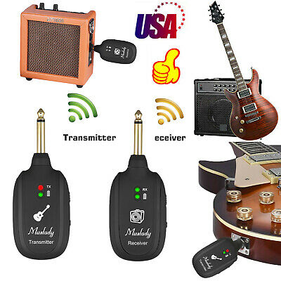 UHF Guitar Wireless System Transmitter Receiver Audio Rechargeable Max. 50M L6Q7