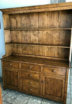 Vintage Guy Chaddock Original Melrose Collection Rustic Hutch, Distressed Walnut