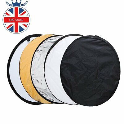 "UK 5in1 110cm 43"" Light Diffuser Round Reflector Disc + Bag For photography"