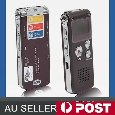 8GB 16GB USB Digital Sound Voice Recorder Dictaphone MP3 Player Rechargeable AU