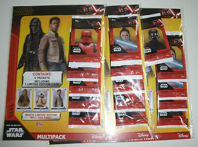 Topps Star Wars The Rise of Skywalker - 3 x Multipack inkl. 3 x Limited Edition