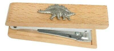 Stegosaurus Wooden Stapler Office Stationary Dinosaur Gift 352