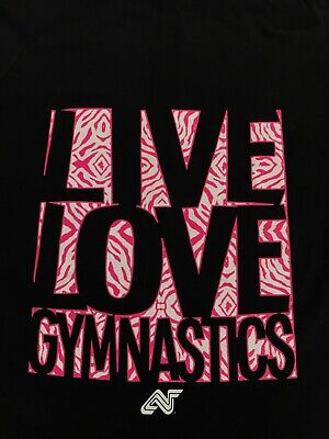 "BNWHT Hooded Jacket of Soffe with ""I Live Love Gymnastics"" age 12/14"