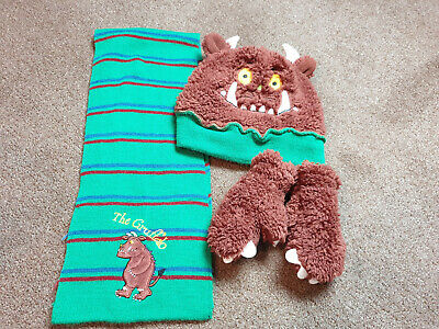 Baby Boys Cute The Gruffalo Hat, Scarf & Mittens Set Great 4 Winter Age 1-2 Yrs