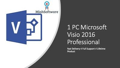 Instant Official Microsoft Visio 2016 Professional 1 PC key + Download Link!