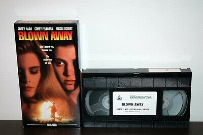 BLOWN AWAY (VHS, 1993) Coren Haim ~ Corey Feldman ~ Nicole Eggert UNRATED