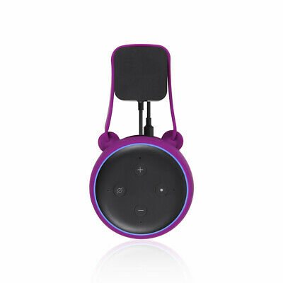 Silicone Outlet Wall Mount Hanger Holder Protective Case For Amazon Echo Dot 3