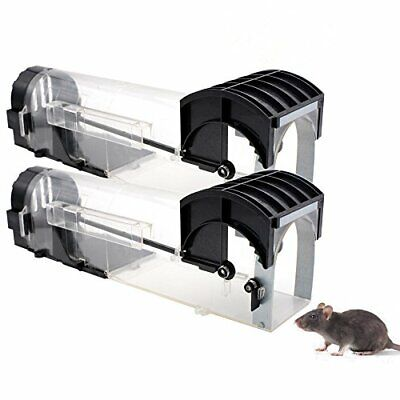 Humane Mouse Trap That Work -2 Pack - Reusable Smart No Kill No Touch Rodent
