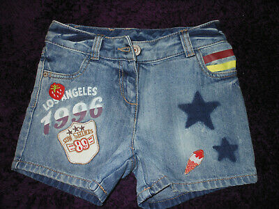 Next Girls Denim shorts, Blue with stars. 5 years old. NWOT