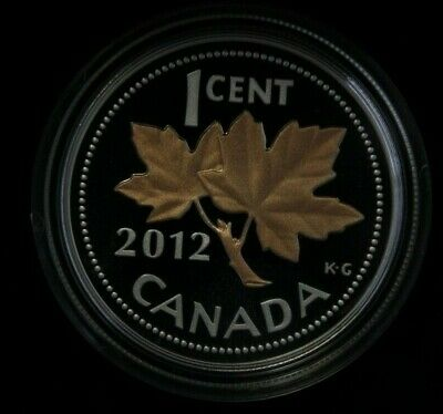 2012 Canada 1 cent Farewell to the Penny , Fine silver