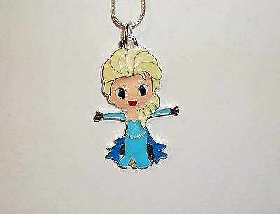 Unwanted DISNEY FROZEN Large Charm NECKLACE Snake Chain ELSA Free Gift Bag