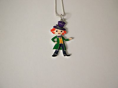 WILLY WONKA unwanted Large Charm Gift NECKLACE Charlie & The Chocolate Factory