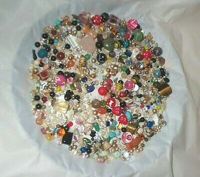 Lot of Vintage Now Jewelry Beads Crystals Glass Stones Findings etc.