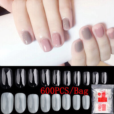 Manicure Full Cover Fake Nails Beauty Tools Short Oval Round False Nail Tips