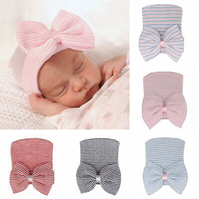 Soft for Baby Girls Baby Hats Newborn Hospital Hat Nursery Beanie Cap with Bow
