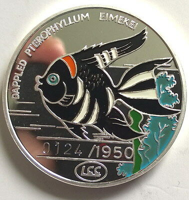 1996 Long Tailed Angelfish 500W 1oz Colour Silver Coin,Proof