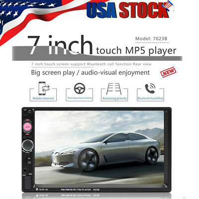 7 Inch Double 7023B 2 DIN Car FM Stereo Radio MP5 Player TouchScreen Blue-tooth