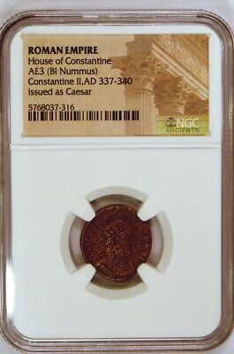 Roman Empire Constantine II as Caesar Bronze Coin 337-340 A.D. Certified by NGC