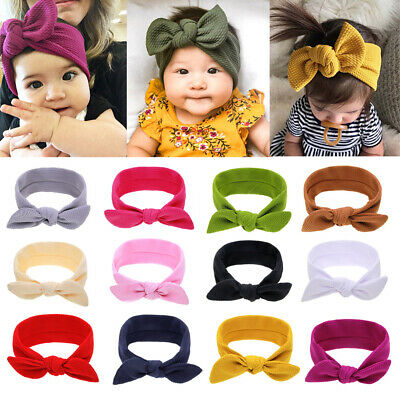 Newborn Hair Bands Baby Girl Headbands Soft Headwrap Infant Knotted Turban-