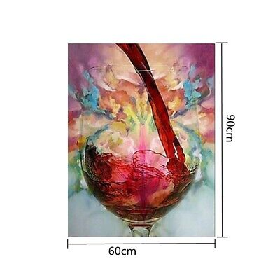 Craft Hanging Decorative Canvas Oil Painting Frameless Abstract Red Wine Glass
