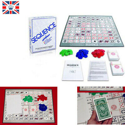 SEQUENCE BOARD GAME Family Party Against Humanity Fun Board Game Cards Gift