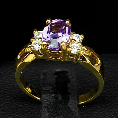 Change Blue Purple Spinel 1.80 Ct.sapphire 925 Sterling Silver Gold Ring Sz 6