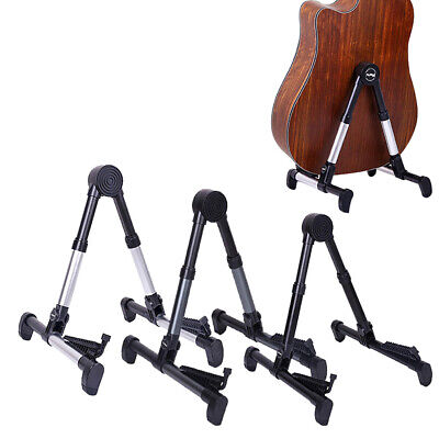 Aluminum Folding Guitar Vertical Stand Floor Rack Electric Acoustic Bass Holder