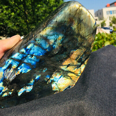 1810G Natural Labradorite Crystal Rough Polished Rock From Madagascar FLLSFFC190