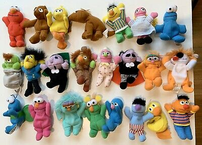 McDonalds Vintage Happy Meal Sesame Street Mini Bean Pals Set 1999