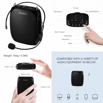 Portable Voice Amplifier Pa system loud speaker with 1800mAh Lithium Battery and