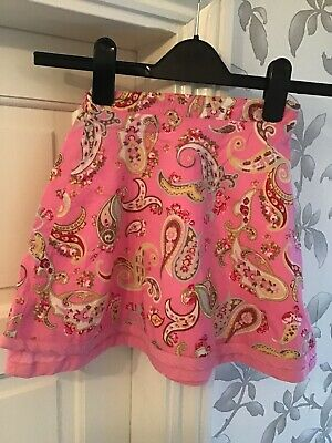 Little Joules Girls Pink Patterned Double Layered Skirt Size 7 Years