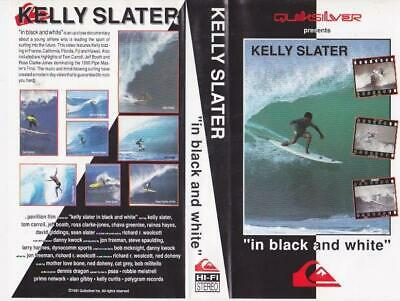Surfing  Kelly Slater In Black And White  Vhs Video Pal~ A Rare Find
