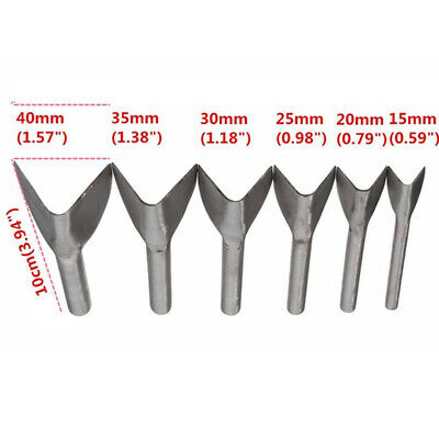 6Pcs/Lot Steel Leather Half-Round Strap Belt Walllet End Cutter Punch Work Tool