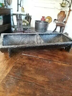 A Unusually Small Cast Iron Feeding Trough Planter 19th century
