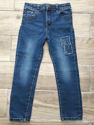 Boys Skinny Jeans Age 6 Years Adjustable Waist Blue