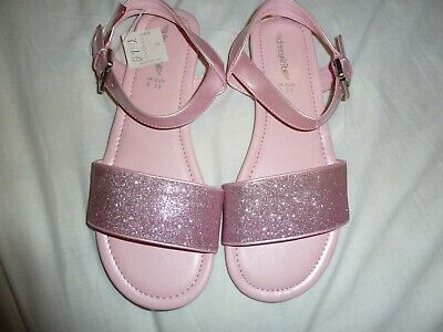 Girls Freespirit (Very) flat pink sparkly sandals BNWT size 6