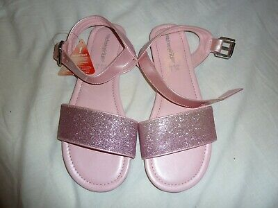 Girls Freespirit (Very) flat pink sparkly sandals BNWT size 5