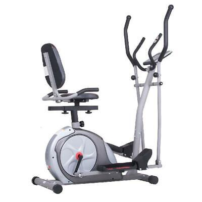 Cardio Bike Elliptical Cross Trainer Exercise Fitness Machine Home Gym 3 In 1