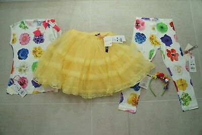 MONNALISA 4 PIECE BRIGHT FLORAL TUTU OUTFIT (skirt BNWT)*12 YRS*£179