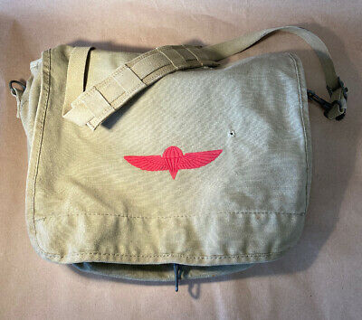 Vintage Syrian Army Military Ammunition Bag Sack Rucksack Made in Israel NICE!
