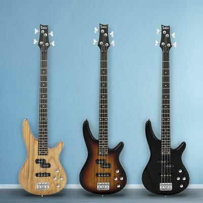 New 3 Colors Glarry Professional  Electric Bass Guitar with Bag Strap Tools