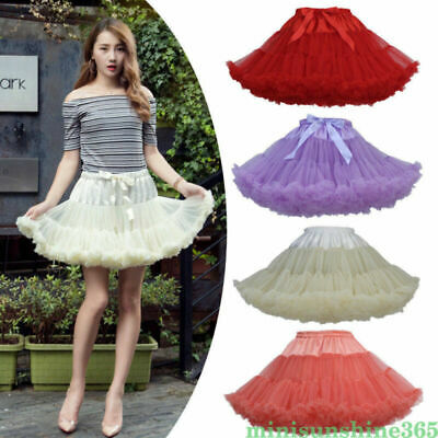 Women Girls Princess Tulle Tutu Skirt Pettiskirt Ballet Dance Wear Party Costume