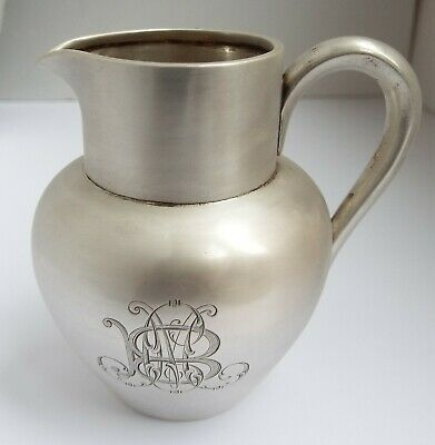 Beautiful Heavy Antique 19Th Century Russian Moscow 1894 Solid Silver Cream Jug
