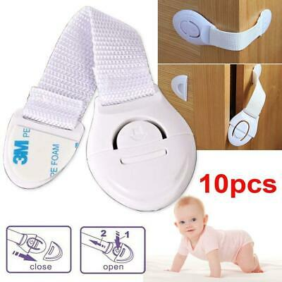 10Pcs Children Safety Security Protector Doorstop Guard Drawer Cupboard Lock S